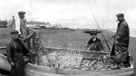 Fishermen at Aldeburgh. Picture: ARCHANT LIBRARY