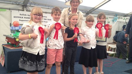 Acton Primary School pupils, from left: Violet Peddel, Jamie Rose, Betsy Mangion, Sophie Dykes and B