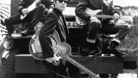A re-staging of one of Astrid Kirchherr's iconic early pictures of The Beatles in Backbeat, the stor