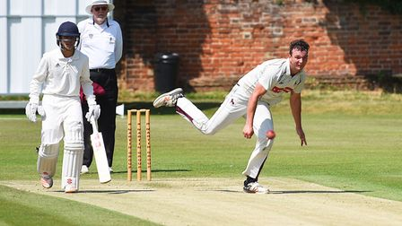 Dustin Melton, who took five for 21 in Sudbury's four-wicket win over Suffolk rivals Copdock & Old I