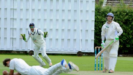 Gary Park is caught and bowled by Kyran Young