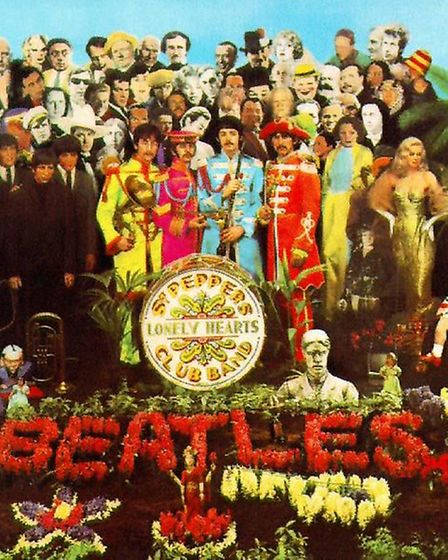 The Beatles Sgt Pepper album cover. Picture: PA