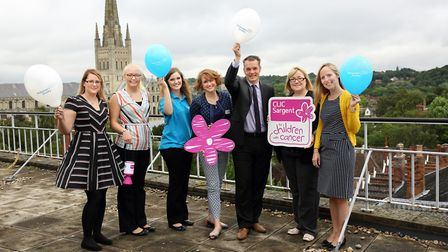 Larking Gowen Community fund members pictured at the launch with Daisy Turner from CLIC Sargen (3rd