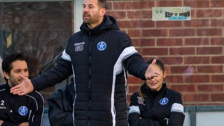 Leiston manager Glenn Driver, happy with his new signings