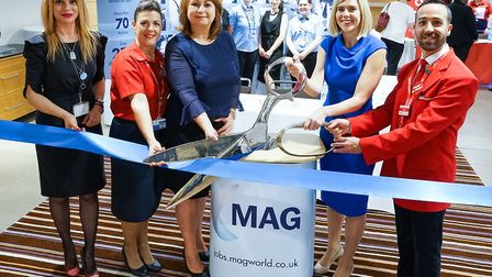 The official opening of the jobs fair at Stansted Airport. Picture: MAG