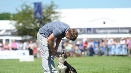 Ed Hawkins with his dog, Jess. Picture: SARAH LUCY BROWN