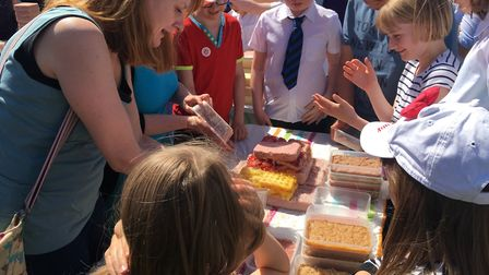 The team from Westgate used potato waffles in their jelly. Picture: GEMMA MITCHELL