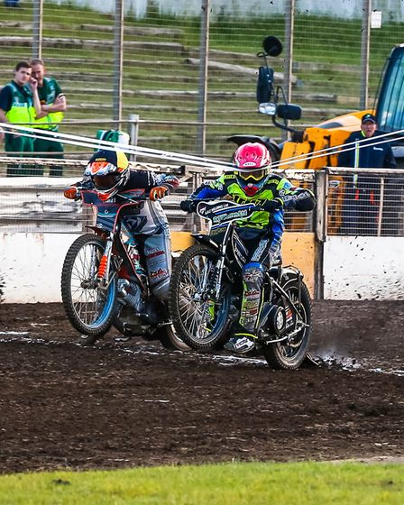 Danny King received a warning after catching the tapes and breaking them at the start of heat six.