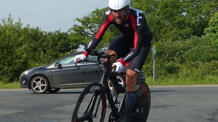 West Suffolk Wheeler Richard Carrington won the Vets 40-49 category at the Stowmarket Ten. Picture: