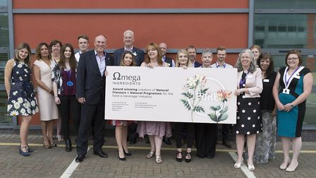 Staff celebrate opening of new facilities at Omega Ingredients