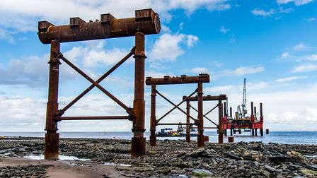 Jetty construction at Hinkley Point C - a similar jetty for delivery of materials could be built at