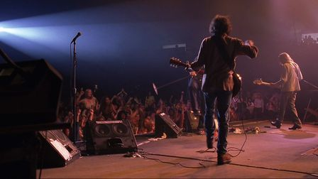 The band Stillwater performing on stage in Cameron Crowe's semi-autobiographical Almost Famous. Phot
