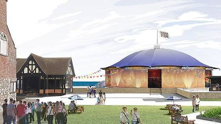The Mix, the new pop-up theatre space, at this year's HighTide festival. Photo: HighTide