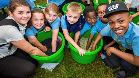 Children at last year's Essex Schools Food and Farming Day.