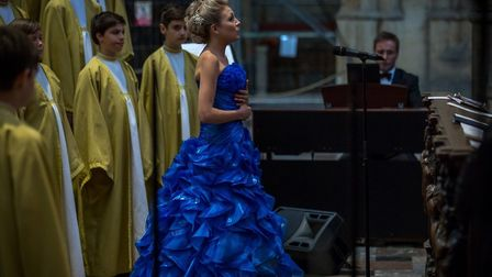 Christina Johnston performs at at St Vitus Cathedral at Prague Castle. Picture: ROMAN ALBRECHT