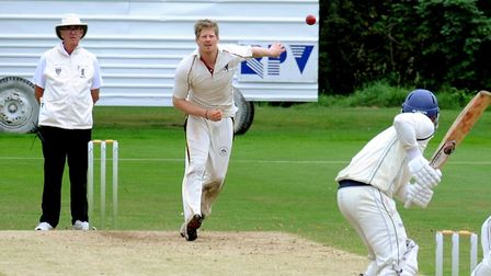 Joe Reed, who took three for 29 in Mildenhall's 50-run win over Horsford. Picture: ANDY ABBOTT