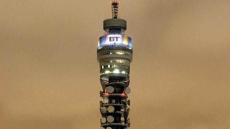The BT Tower in London. Picture: PA