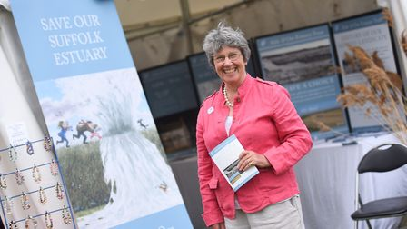Aldeburgh and Ore Estuary Trust member Mandy Bettinson mans the stand at the Suffolk Show. Picture: