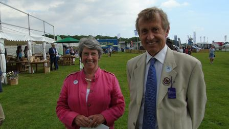 Sir Edward Greenwell, chairman of the Alde and Ore Estuary Partnership, pictured with member Mandy B