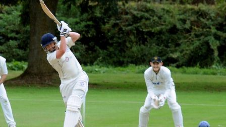 Thomas Piddington, who struck an unbeaten 100 to help Hadleigh to victory over Worlington. Picture: