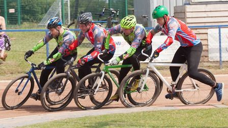 The South East and East's Lewis Osborne leads Kris Ramsden, with Luke Harrison third and Reece Polli