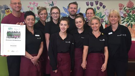 Members of the coffee shop team at Perrywood Garden Centre & Nurseries. Picture: Perrywood Garden C