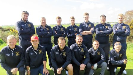 BURY ST EDMUNDS Stenson Shield squad which won at Southwold and will play at home to Thorpeness. Bac