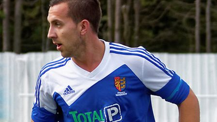 Tom Bradlaugh, in action for former club, Ipswich Wanderers