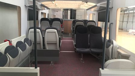 The mock-up of the new InterCity train for Greater Anglia. Picture: GREATER ANGLIA