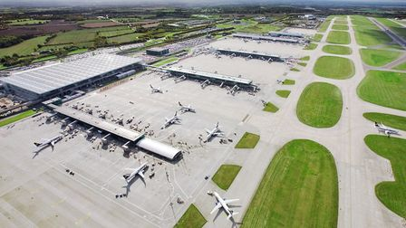 Aerial shot of Stansted Airport. Picture: MARK DAVISON/STANSTED AIRPORT