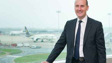Andrew Cowan, chief executive of Stansted Airport. Picture: TONY PICK