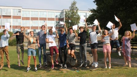 Harwich and Dovercourt High School pupils celebrate their GCSEs in 2016. The school will now benefit