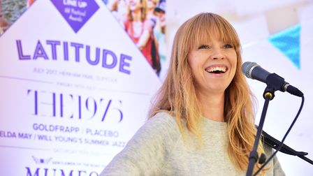 Lucy Rose performs at the launch of the 2017 Latitude Festival at Henham Park, Suffolk. Picture: NIC