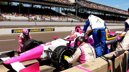 Pippa Mann at the 2014 Indy 500. Photo: Contributed