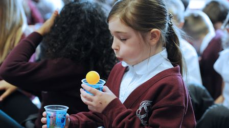 ScottishPower Renewables and Mad Science will be at the Suffolk Show. Pictured is a girl getting a p