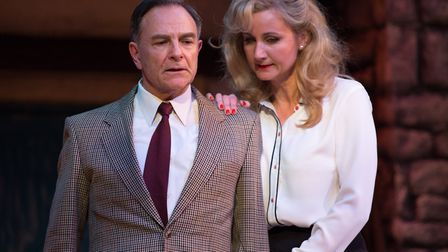 Brian Capron and Corrinne Wicks star in Talking Scarlet's production of Strictly Murder. Photo: Talk