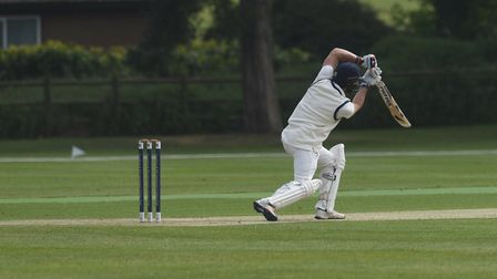 Jaik Mickleburgh, who scored 123 not out in Copdock & Old Ipswichian's exciting win over Vauxall Mal