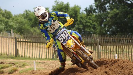 Action from the Bickers Lifting Solo Mx Championship at Lyng, Callum McClurg . Photo: SOPHIE BRINKLE