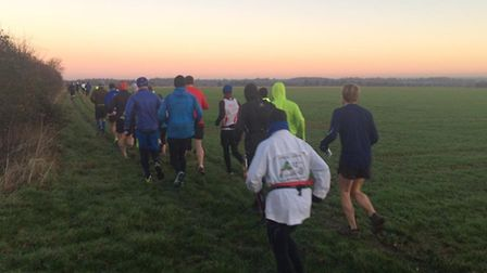 Runners taking part in one of the Great Barrow Challenge events, the Christmas Triple Tipple from 20