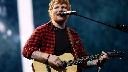 Ed Sheeran, pictured here performing at Glastonbury, insists he has not quit social media.Picture: Y