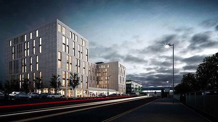 An artist's impression of the new Hampton by Hilton hotel at Stansted Airport. Picture: Hampton by