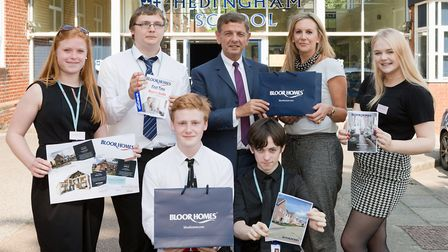 The Hedingham School Enterprise Challenge team. Picture: Keith Mindham Photography