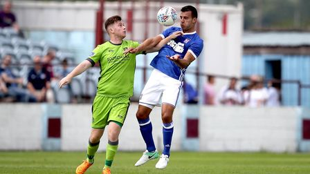 Steven Taylor in action against a Drogheda XI in Ireland recently. The former Newcastle man hasn't b