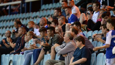 Town fans at the Abax Stadium on Tuesday for the friendly between Peterborough and Ipswich