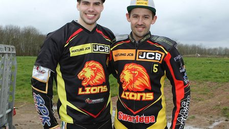 Kim Nilsson, left, and Danny King. Kim has suffered a broken arm after a disappointing night on Mond