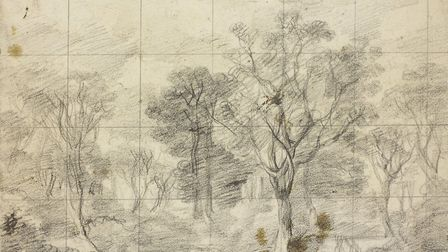 A sketch of Cornard Wood which is now one of 26 being attributed to Thomas Gainsborough. Picture: RO