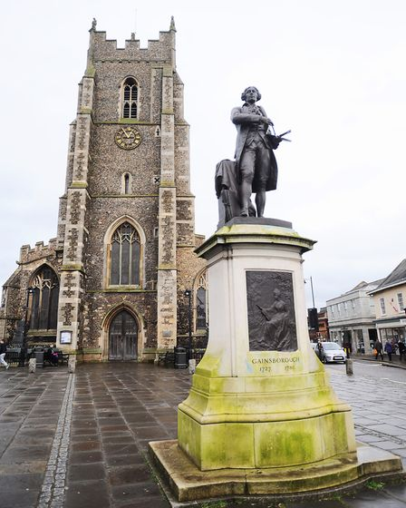 Thomas Gainsborough is a famous son of Suffolk, and honoured in his hometown of Sudbury. Picture: GR