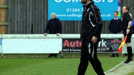 Bury Town manager Ben Chenery, whsoe Blues side have been drawn at home to Tilbury in the preminiary