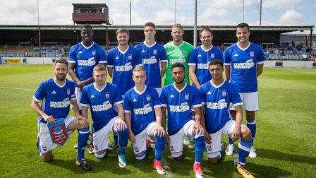 The Ipswich Town team which started the first half at Drogheda. Photo: �INPHO/Ryan Byrne
