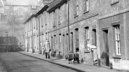 Wells Street, Ipswich, in the 1950s. PICTURE: DAVE KINDRED